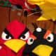 The finished DIY Angry Bird Hoodie Costumes