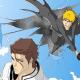 Ichigo sneaking on Aizen's back