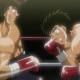 Ippo facing Sendo's ultimate technique, smash