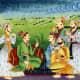 Akbar with his advisors