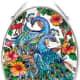 Peacock suncatcher (link to purchase below)