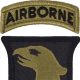 The shoulder patch of the 101st Airborne. The 101st is known as the tip of the spear.
