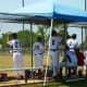 Teams playing baseball