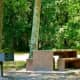 One of many picnic areas in a more wooded section of the park.