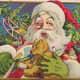 Vintage Santa graphics: Santa and his toy bounty