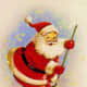 Vintage Santa graphics: sweeping up the old fashioned Christmas stars