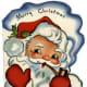 Vintage Santa graphics: a retro Santa and his pipe