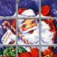 Vintage Santa graphics: a retro Santa and his candy cane