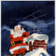 Vintage Santa graphics: Santa goes retro