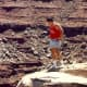 One never knows for sure just what is under those rocks in Canyonlands. National Park.