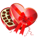 Valentine's Day box of chocolates clip art