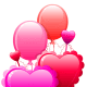 Valentine's Day balloon clip art