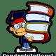 Caucasian boy graduation clipart
