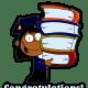 African American girl graduation clipart