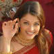 World famous Indian celebrity-Aishwarya Rai Bacchan.Loves tradition and family life, inspite of her fame, beauty and wealth