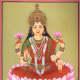 An artwork dipicting Lakshmi-the Hindu goddess for wealth