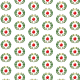 Wreath and ornament Christmas scrapbook paper -- white background