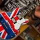 miniature guitar with British flag