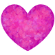 Pink and purple patterned heart image