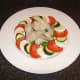 Poached chicken wings with simple summer salad