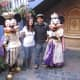 With Mickey and Minnie during the Mardi Gras celebration in 2011.