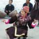 Dancer in a folk music festival