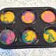 Mini Easter-colored cupcakes
