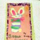 Another bunny my son created with his painted foot.
