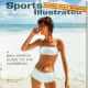 Sports Illustrated Magazine Cover for the Swim Suit Issue with white bikini