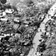 Devastated city after the 1976 Tangshan earthquake
