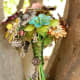 Vintage jewelry brooch bouquet by Baubles and Brides