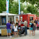 Many food trucks on location at Creekfest