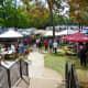 View of Creekfest from raised outdoor dining area