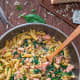 Salmon pasta with spinach