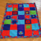 Finished brightly colored afghan