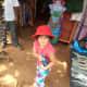 My daughter Shronika Soni, posing at the Baga Beach Market
