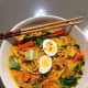 In Malaysia curry noodles known as mie kari.