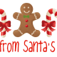 Personalized Santa letter 5: gingerbread man and candy canes