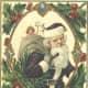 Santa with Christmas holly
