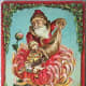 Chrysanthemum vintage Christmas card
