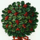 Gift tag: Christmas holly topiary tree