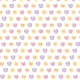 Candy hearts scrapbook paper: white background