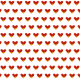 hearts on fire scrapbook paper: white background