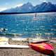 Windsurfing on Jackson Lake