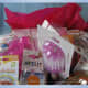 Add a little tissue paper in the gift basket for some color.