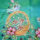 Aari or khatla Embroidery done on a cot  originated in Barabanki, Uttar Pradesh.