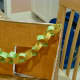 Paper chains are a common decorative item in sukkahs. My daughter's small fingers were perfect for making this one!