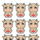 Ox Motifs and Patterns # 7 - Children in Year of the Ox Costumes