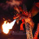 Animatronic robot: A fire-breathing dragon in West Edmonton Mall, Alberta, Canada