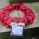 Poppy Wreath with a message of remembrance
